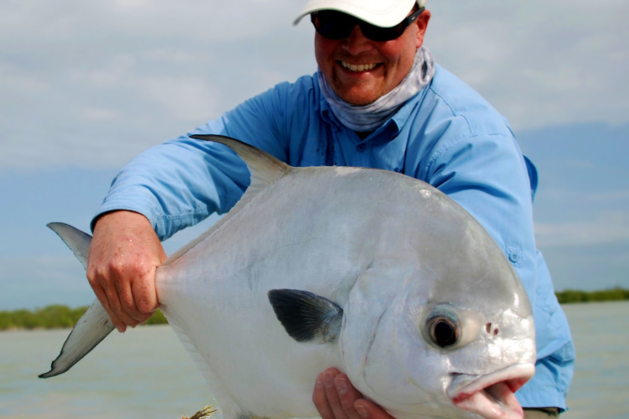 Ascension Bay Fly Fishing for Permit
