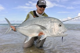 bobby miller and gt giant trevally christmas island