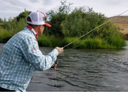 dry fly fishing upstream tip by Joe Rotter