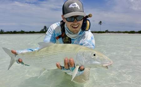 giant bonefish from christmas island