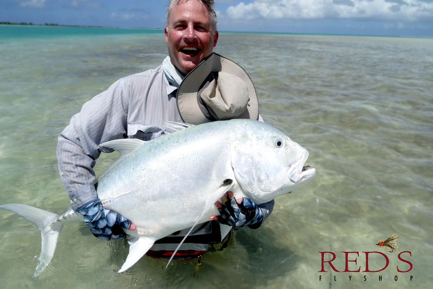 giant trevally fly fishing on christmas island