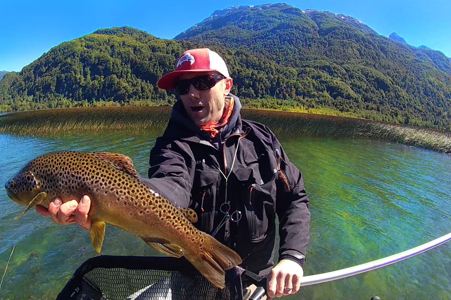 joe rotter and trout in patagonia