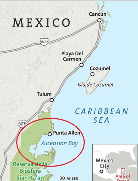 7a848004 Ascension Bay is on the Caribbean side of Mexico about 100 miles south of  Cancun. This is the Cooperstown of flats fishing. It has been written about  in ...