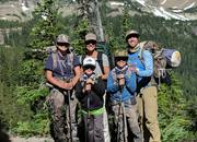 rotter family backpacking to high lake (3x)