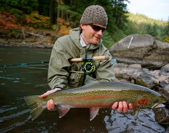 Sims With a Great Klickitat River Steelhead