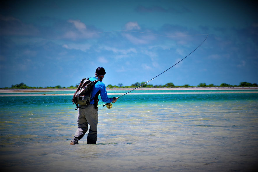 stalking bonefish on the flats in christmas island