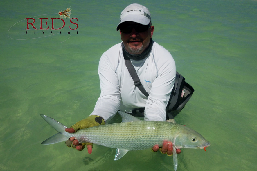 Tony and Giant Bonefish on Christmas Island