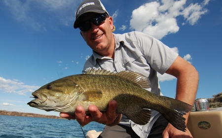 smallmouth bass on a fly rod