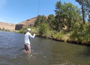wade out and cast in powerhour wade fishing tip yakima canyon joe rotter