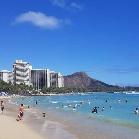 waikiki beach on the way to christmas island fly fishing